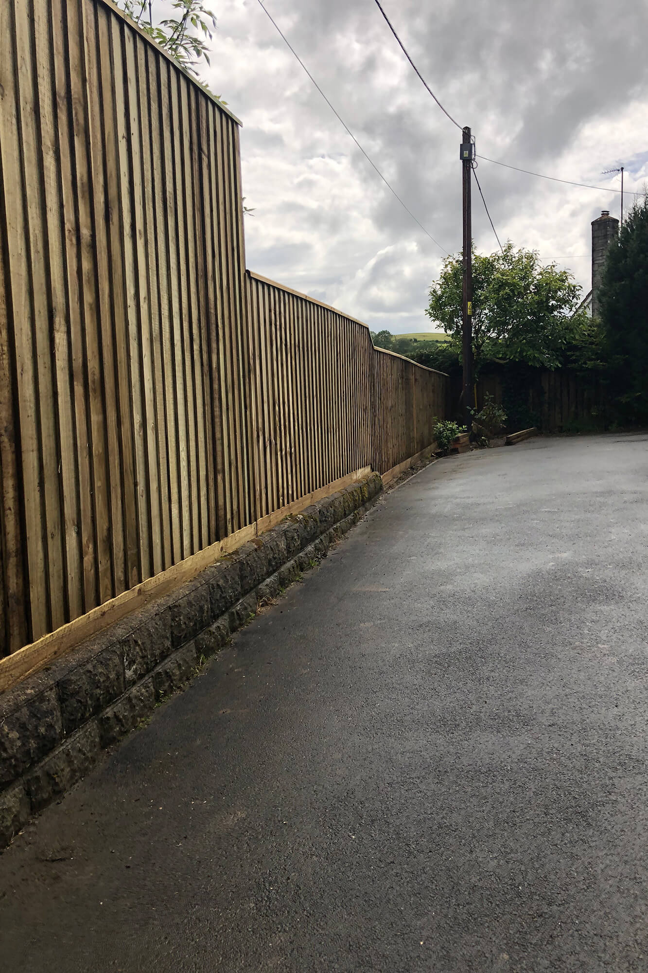 Fencing for Town properties to create privacy