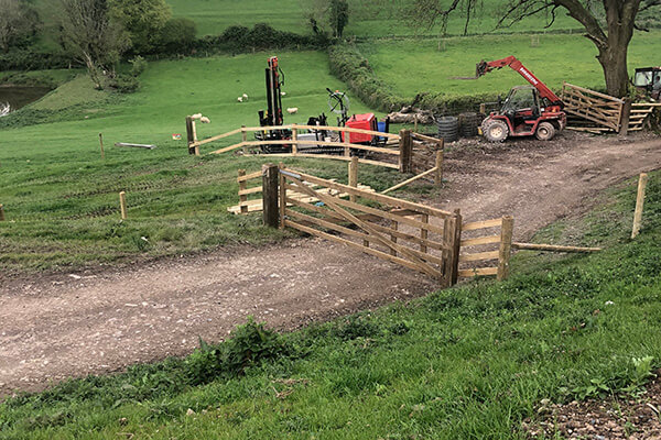 Fencing work Poltimore Inn North Molton